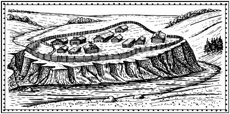 Характерные поселения дьяковцев - городища