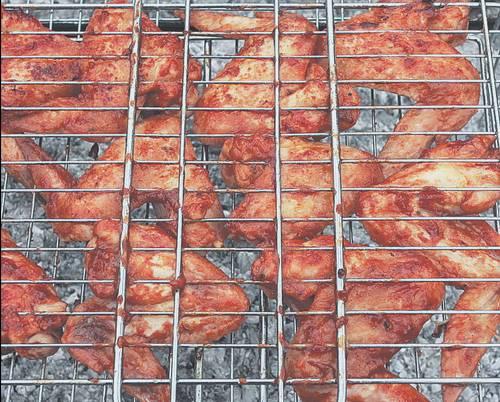 Рецепт крылышки на решетки