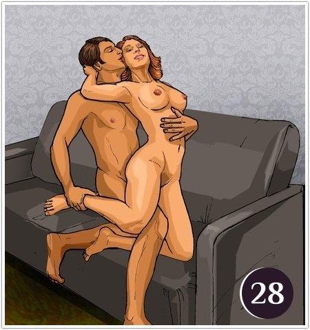 Позы секса на диване