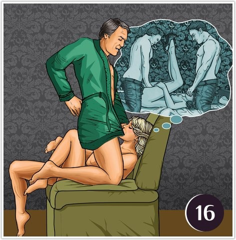 Секс позы сзади на диване на кресле на кухне на стуле на столе