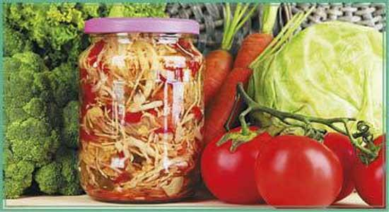 Салат консервированный овощной рецепт с