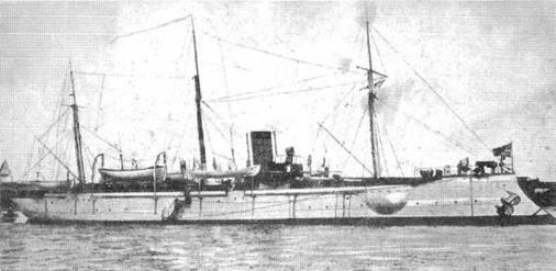 Канонерская лодка кореец выдержали сильный бой